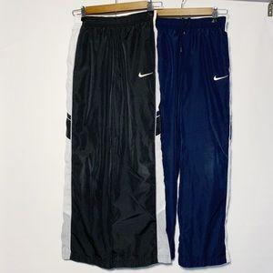 DUO Nike Windbreaker Athletic Pants Black Blue